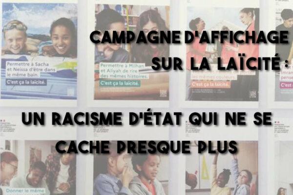 Campagne d'affichage sur la laïcité : un racisme d'État qui ne se cache presque plus